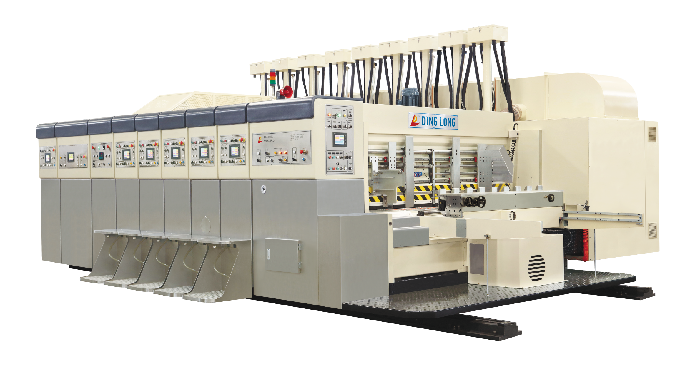 SNOVA-TP Vacuum transfer top printing slotting die-cutting machine